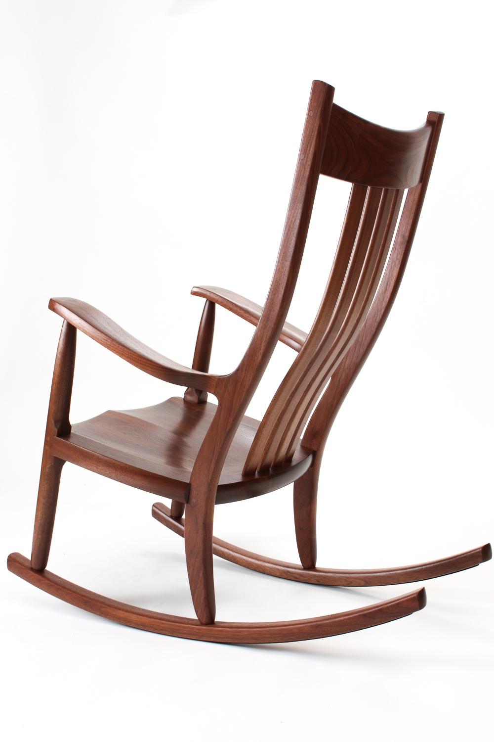 Inspiration about Walnut Rocking Chairs | Comfortable, Handmade, Heirloom Intended For Dark Walnut Brown Wooden Rocking Chairs (#5 of 20)