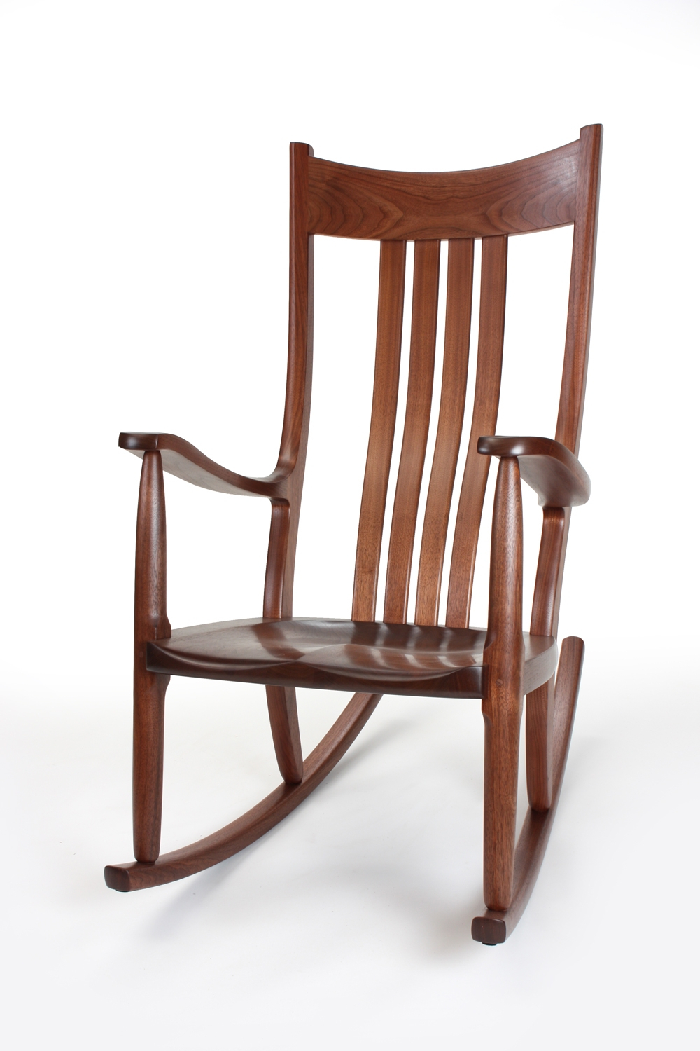 Inspiration about Walnut Rocking Chairs | Comfortable, Handmade, Heirloom With Dark Walnut Brown Wooden Rocking Chairs (#2 of 20)