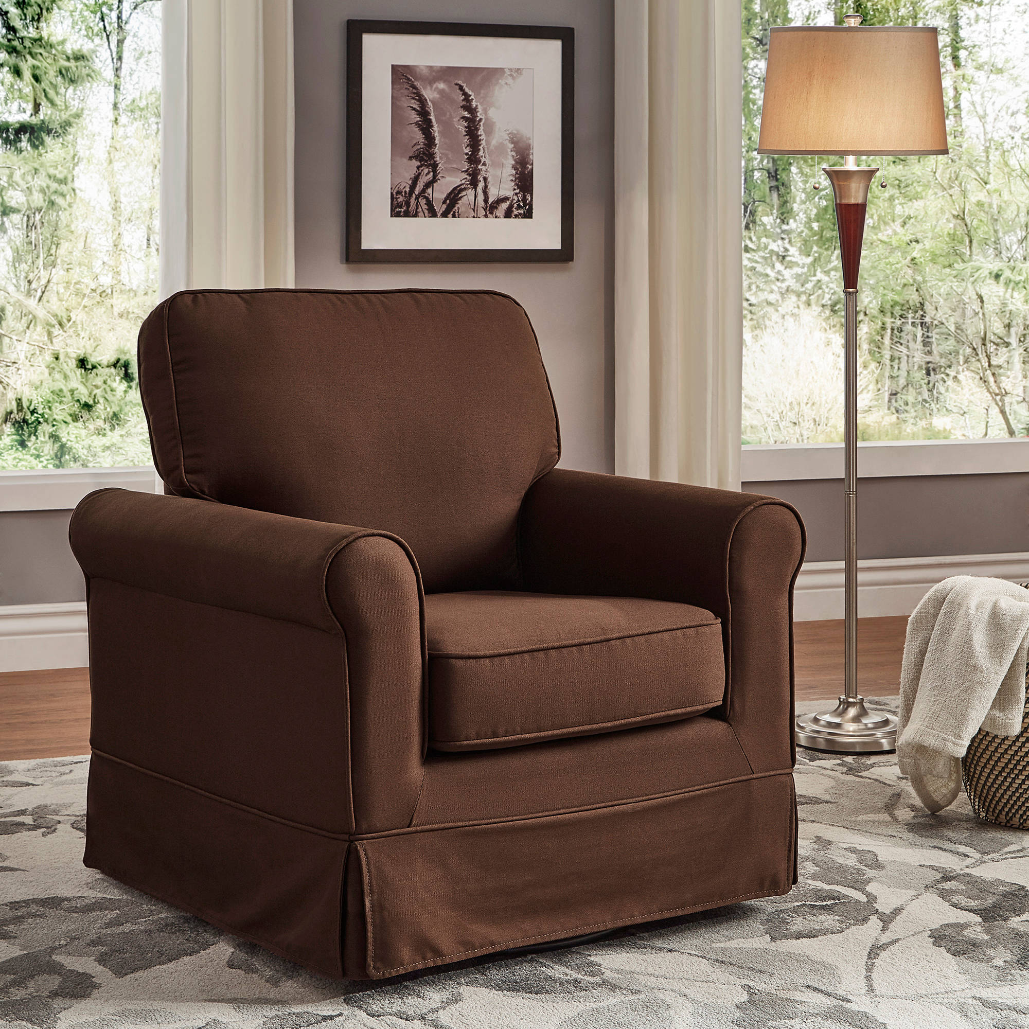Inspiration about Weston Home Madden Swivel And Rocking Accent Chair, Multiple Colors In Weston Rocking Chairs (#7 of 20)