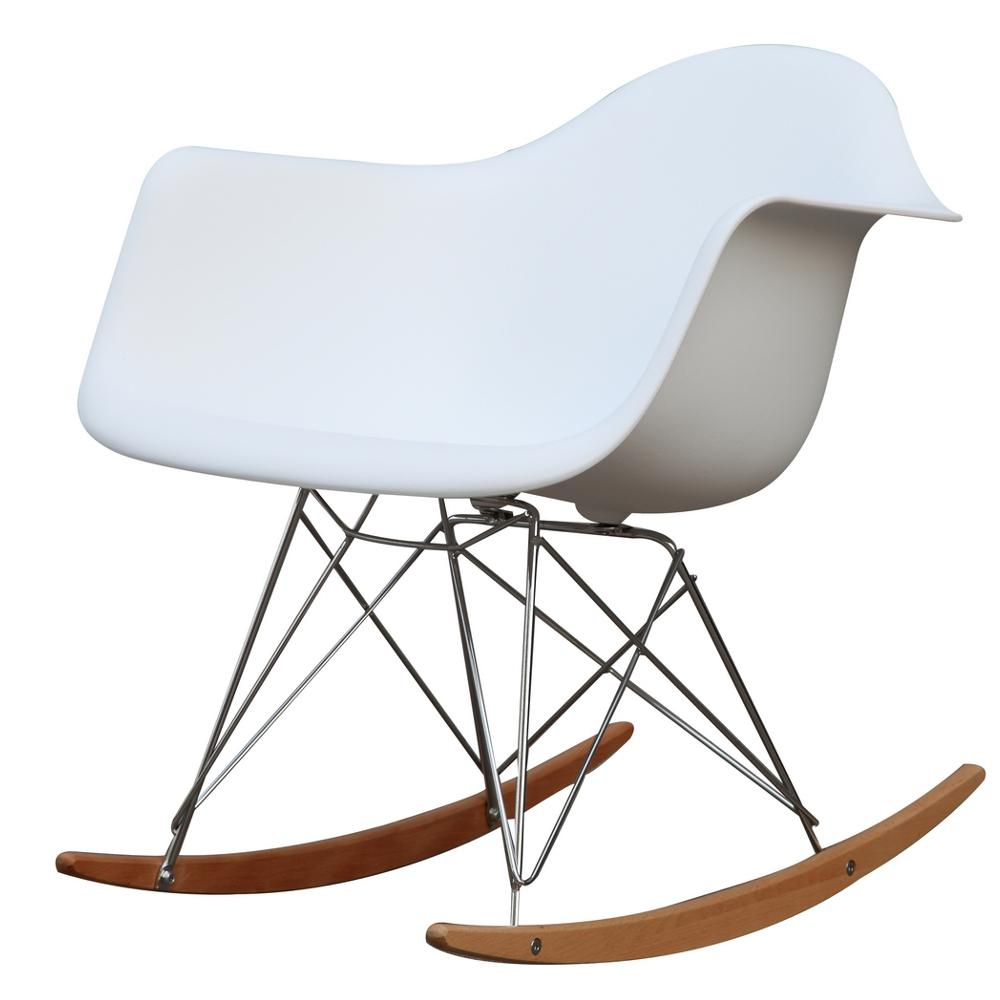 Inspiration about White Rocker Arm Chair Intended For Plastic Arm Chairs With Rocking Legs (#17 of 20)