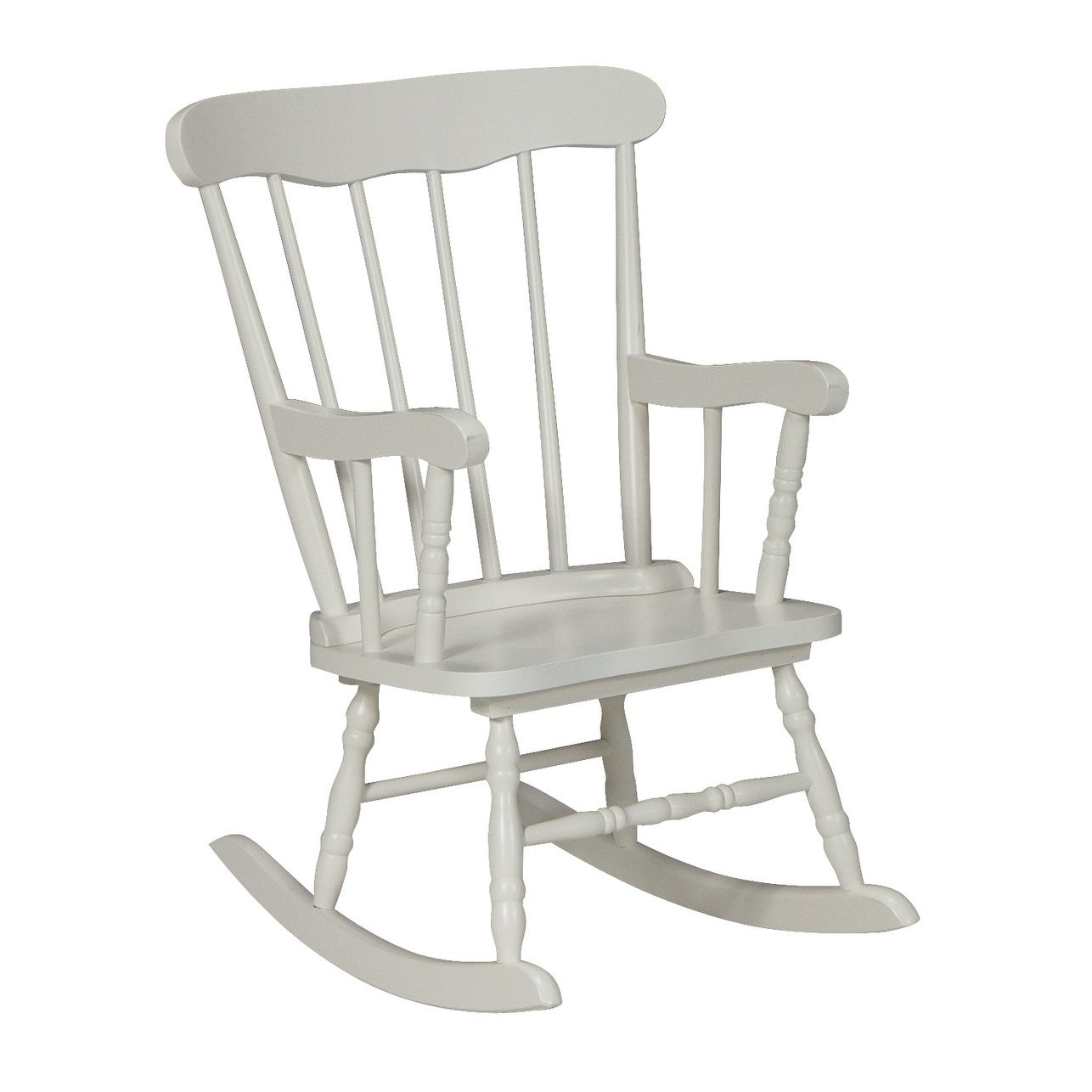Inspiration about White Wood Juvenile Rocking Chair With Brady Traditional White Rocking Chairs (#7 of 20)
