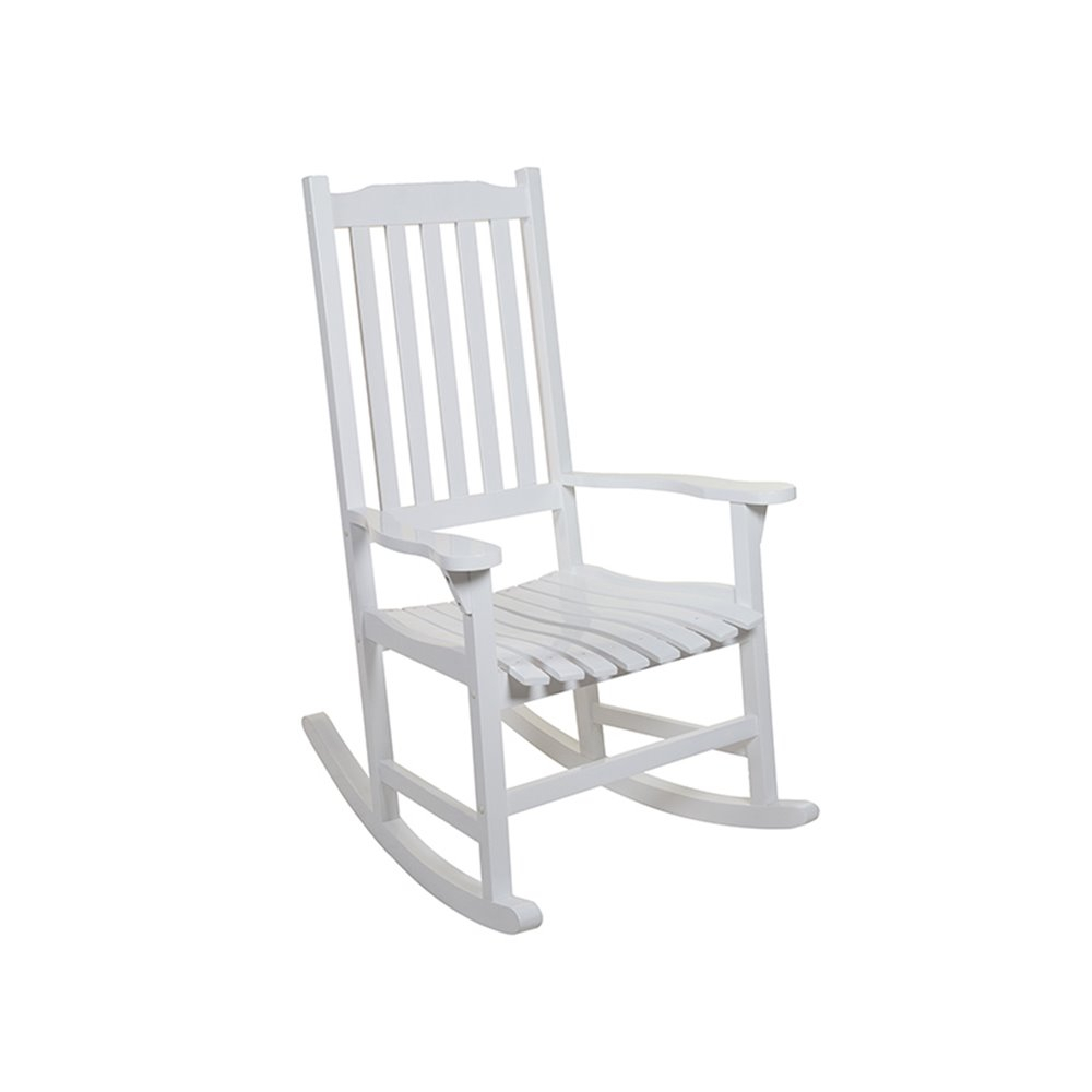 Inspiration about White Wood Vintage Rocking Chair For Exterior With White Wood Rocking Chairs (#10 of 20)