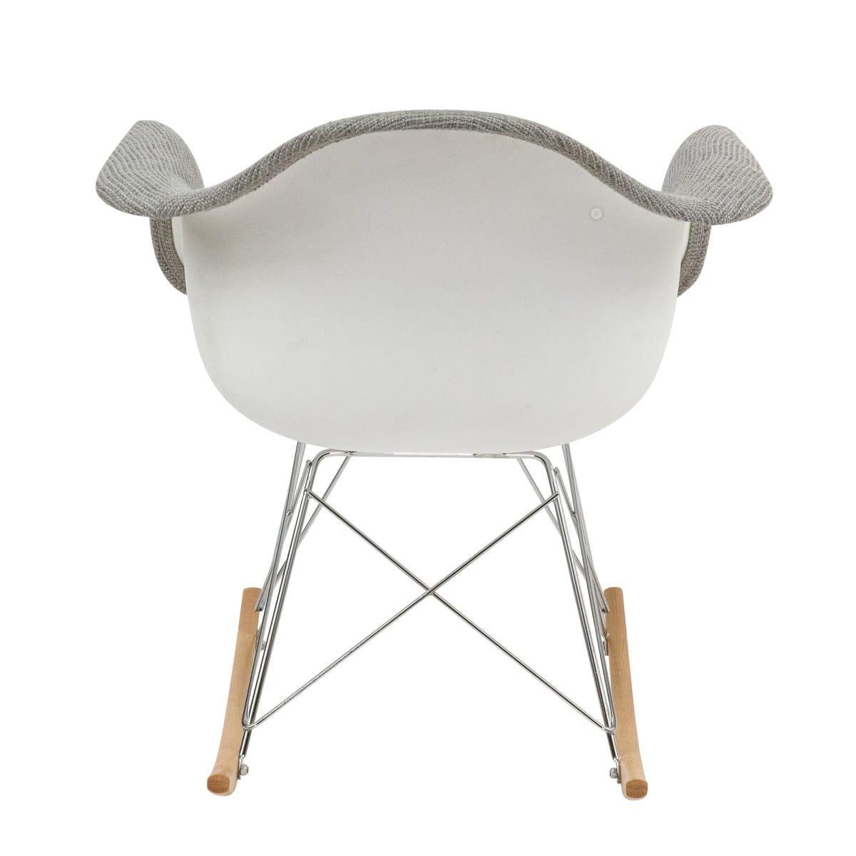 Inspiration about Wilson Twill Fabric Eiffel Gray Rocking Chairleisuremod Regarding Twill Fabric Multi Rocking Chairs With Eiffel Legs (#11 of 20)