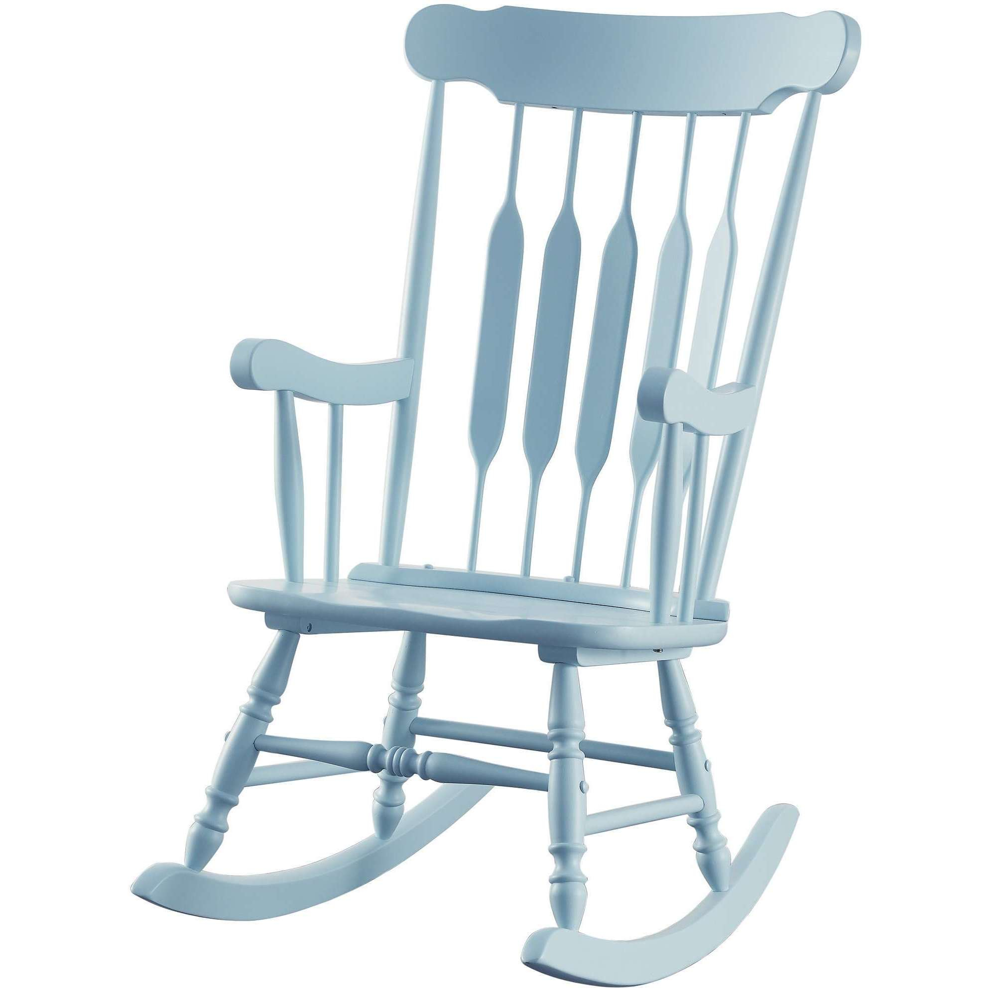 Inspiration about Windsor Arrow Back Country Style Light Blue Rocking Chair Inside Windsor Arrow Back Country Style Rocking Chairs (#5 of 20)