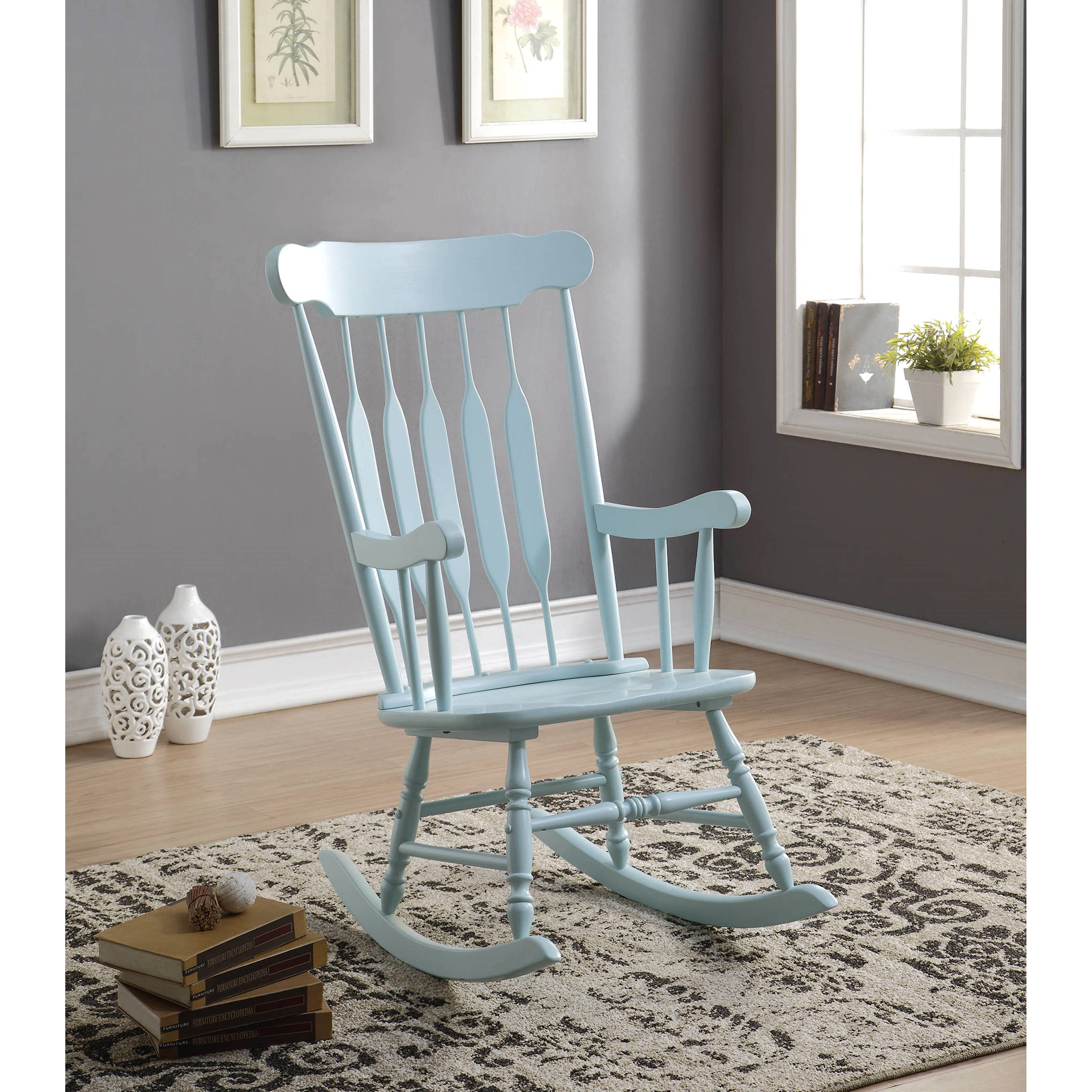Inspiration about Windsor Arrow Back Country Style Light Blue Rocking Chair Intended For Windsor Arrow Back Country Style Rocking Chairs (#3 of 20)