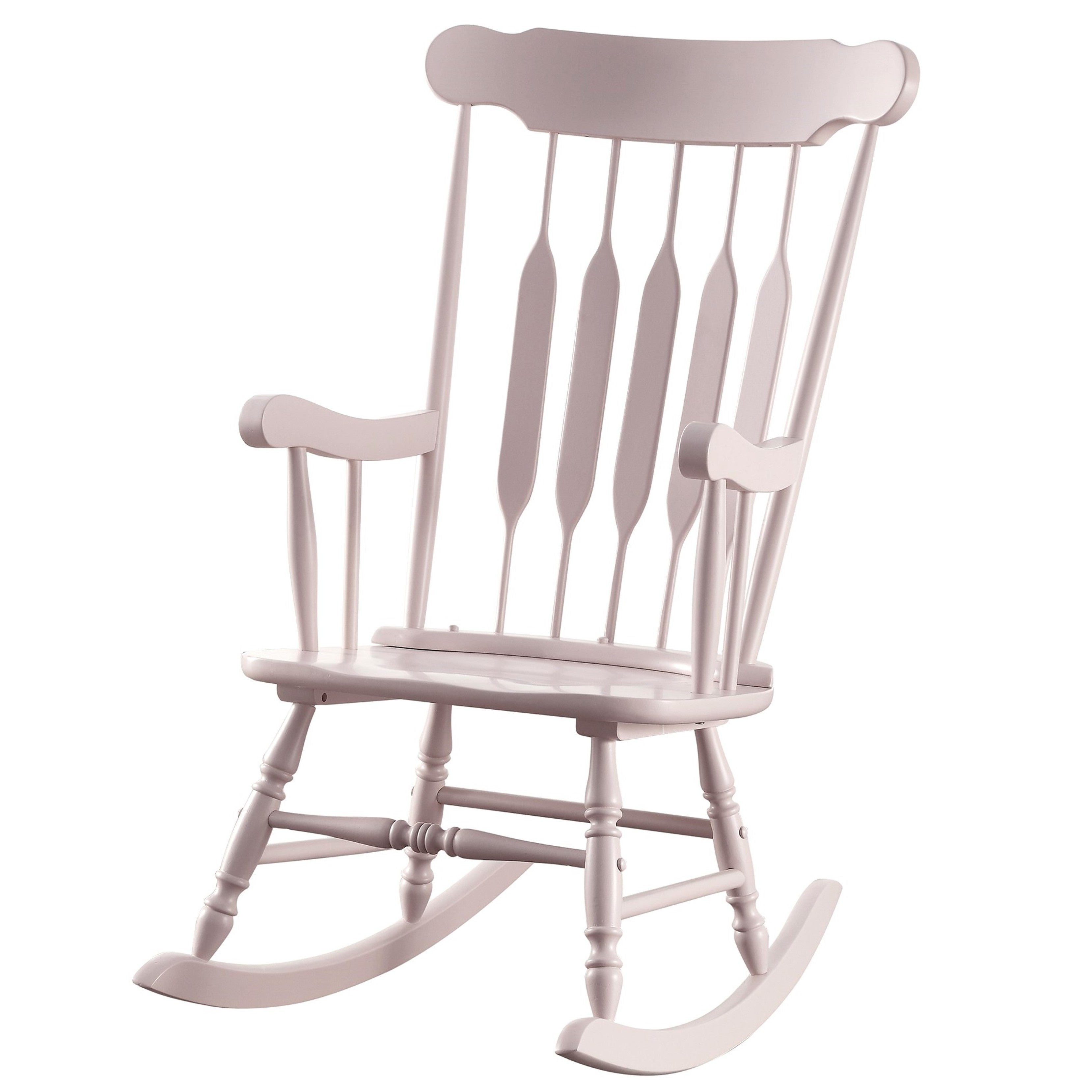 Inspiration about Windsor Arrow Back Country Style Pink Rocking Chair With Windsor Arrow Back Country Style Rocking Chairs (#4 of 20)