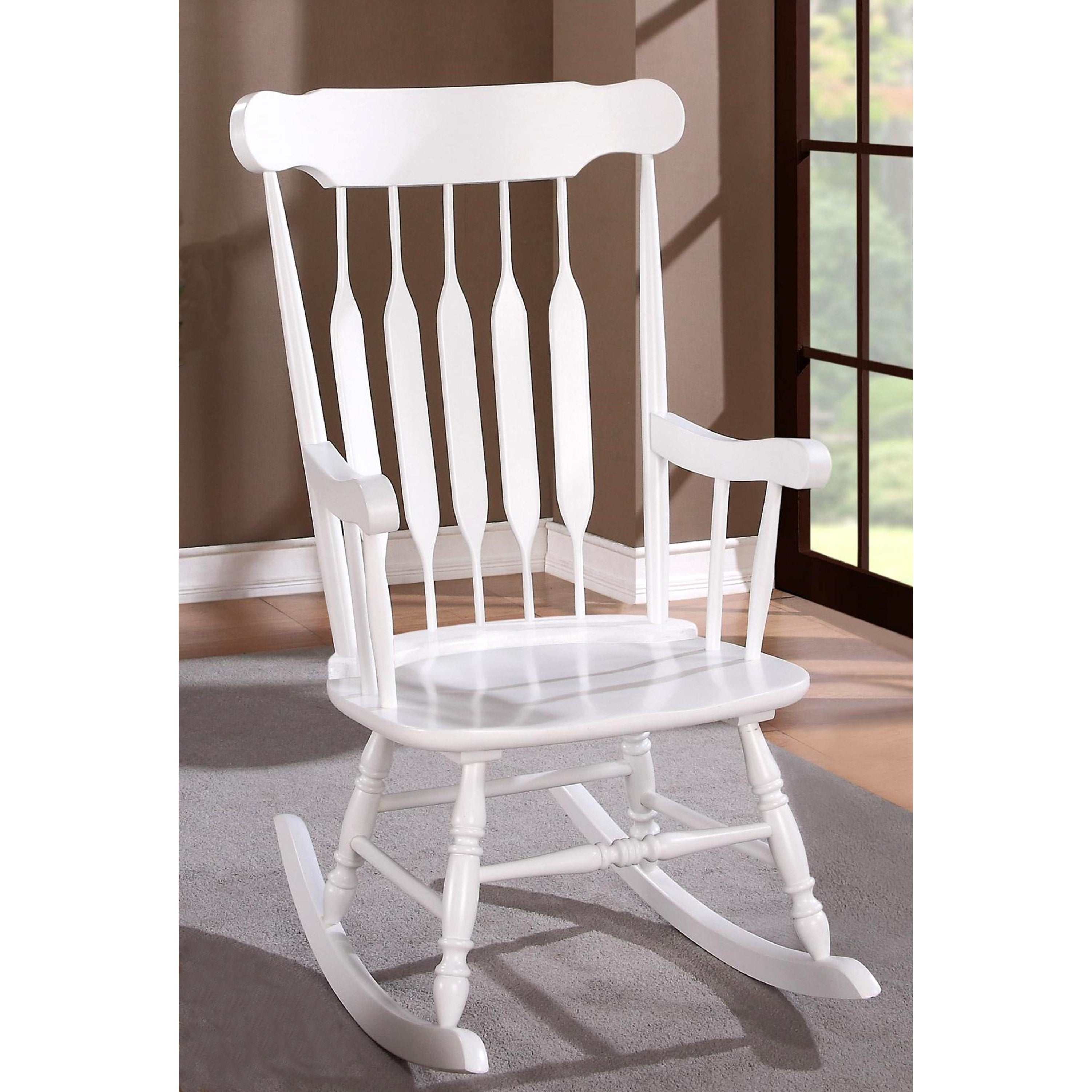 Windsor Arrow Back Country Style Rocking Chair Throughout Ethel Country White Rocking Chairs (#20 of 20)