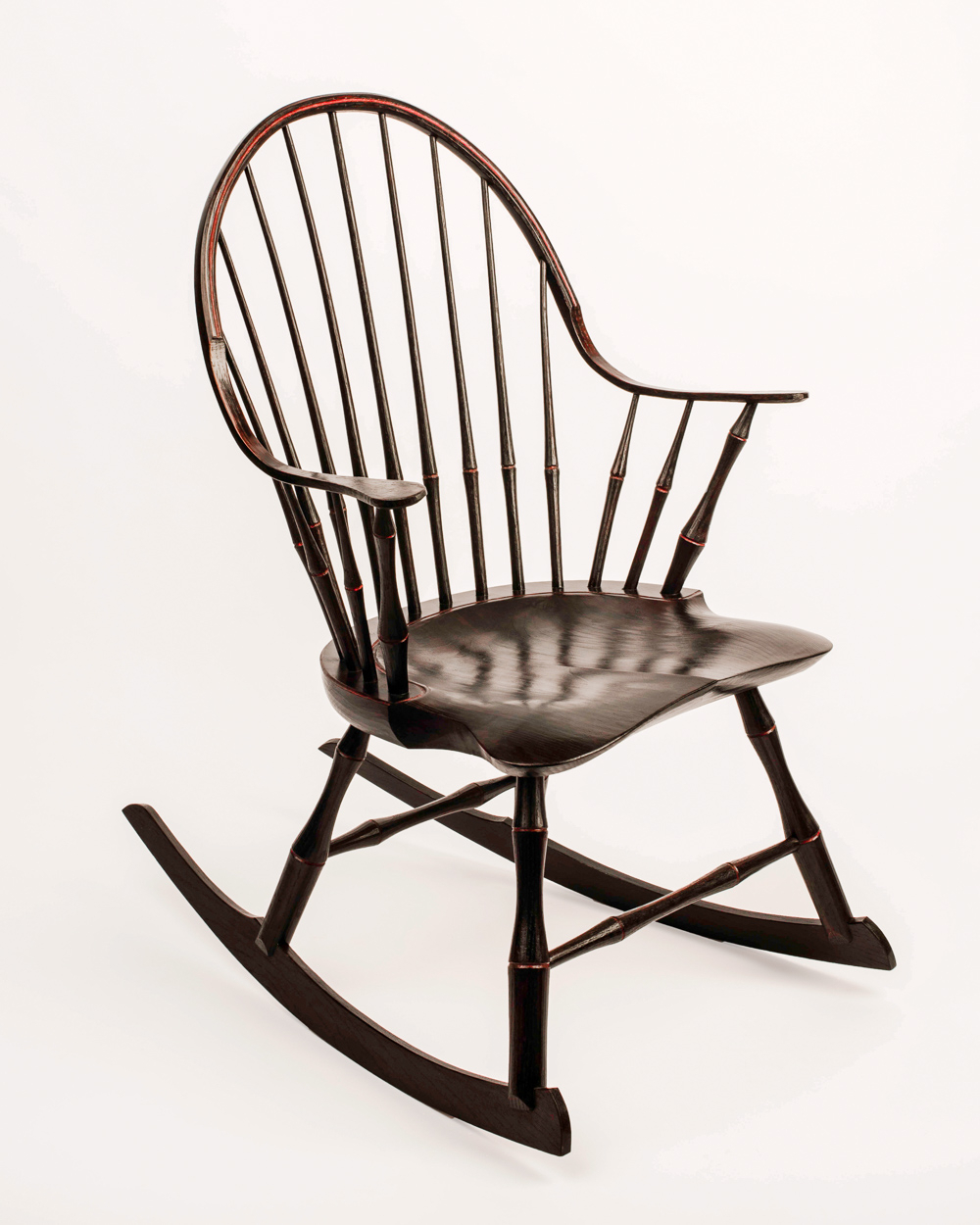 Inspiration about Windsor Rocking Chairs | Elia Bizzarri – Hand Tool Woodworking Intended For Black Back Windsor Rocking Chairs (#5 of 20)