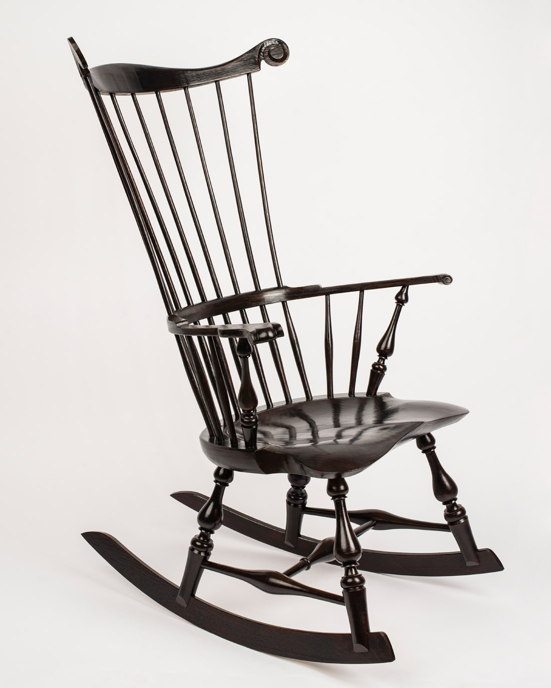 Inspiration about Windsor Rocking Chairs | Elia Bizzarri – Hand Tool Woodworking Within Black Back Windsor Rocking Chairs (#2 of 20)