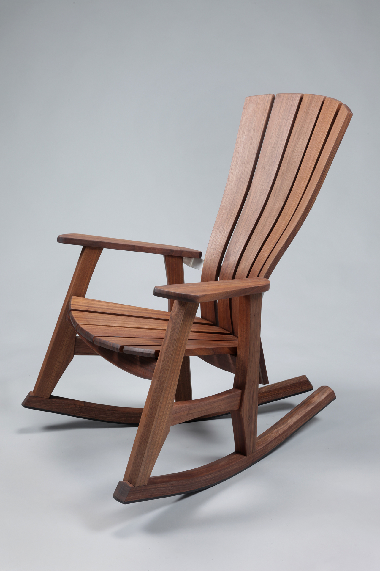 Wood Rocking Chair That Takes Spotlight | Home Decor News Intended For Beige Fabric And Cherry Wood Rocking Chairs (View 17 of 20)