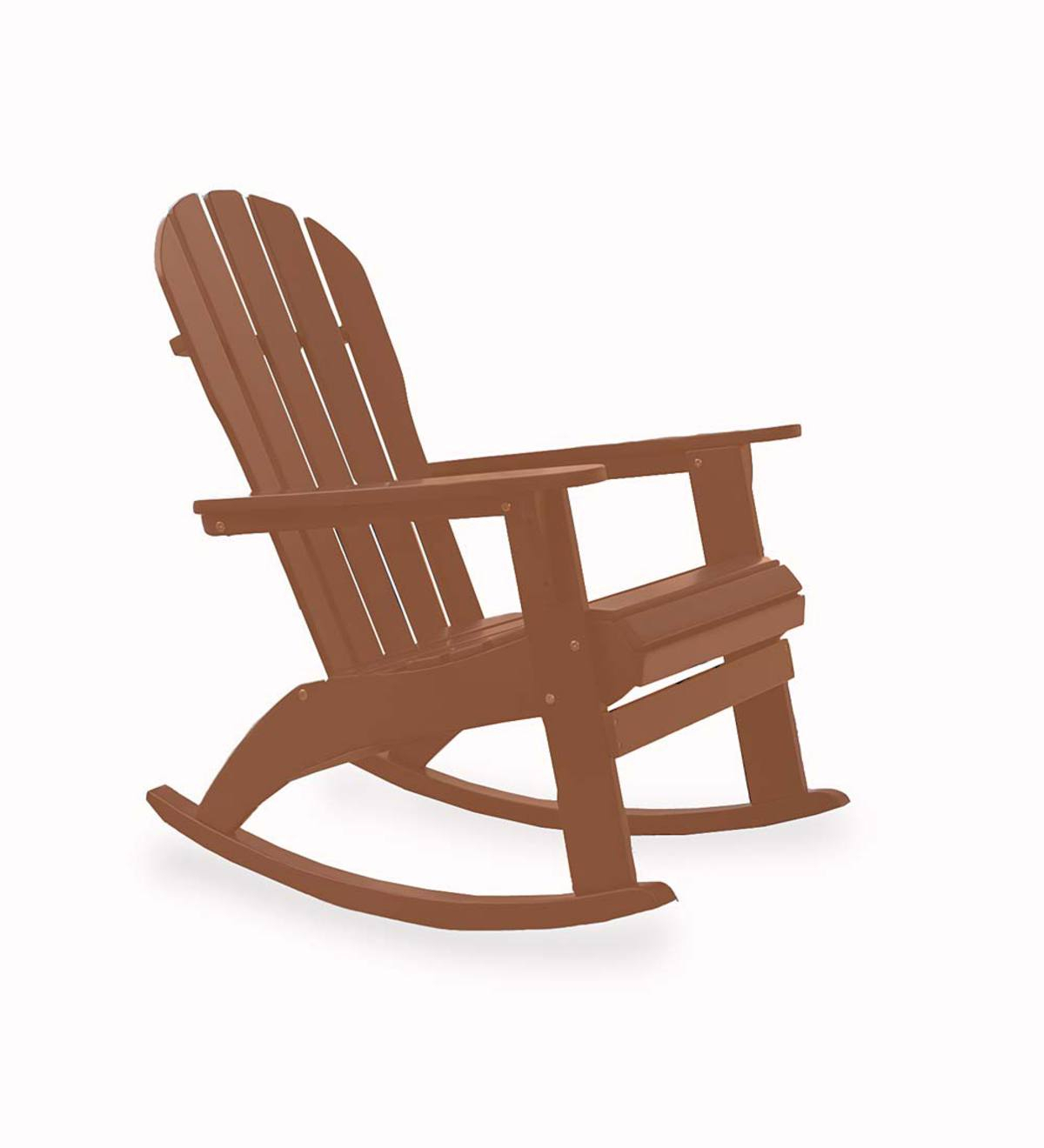 Wooden Adirondack Rocker | Plowhearth Inside Natural Brown Wood Folding Rocking Chairs (#20 of 20)