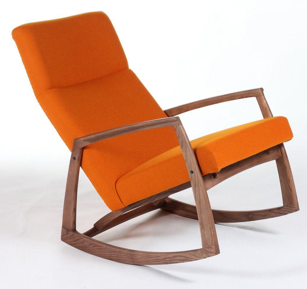 Popular Photo of Orange Rocking Chairs Lounge Chairs