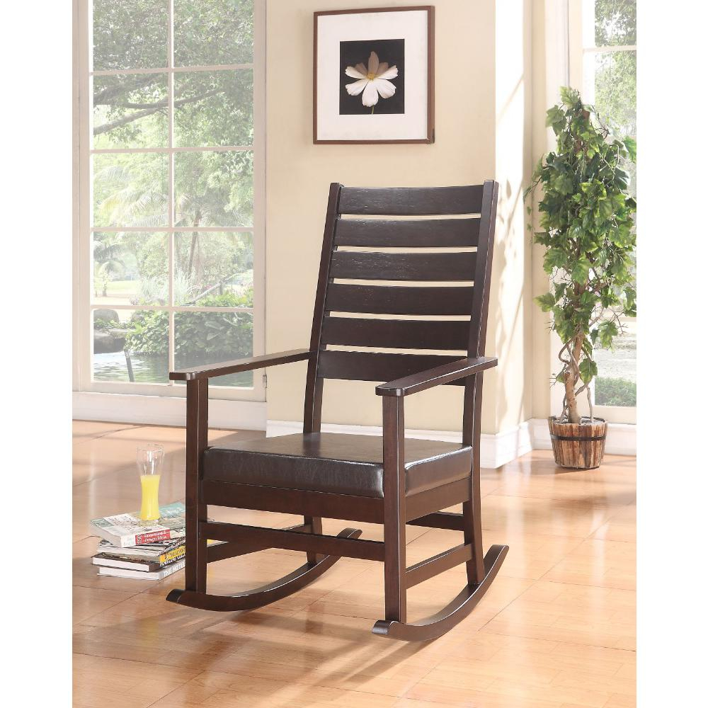 Wooden Rocking Chair, Espresso Brown With Espresso Brown Rocking Chairs (#20 of 20)