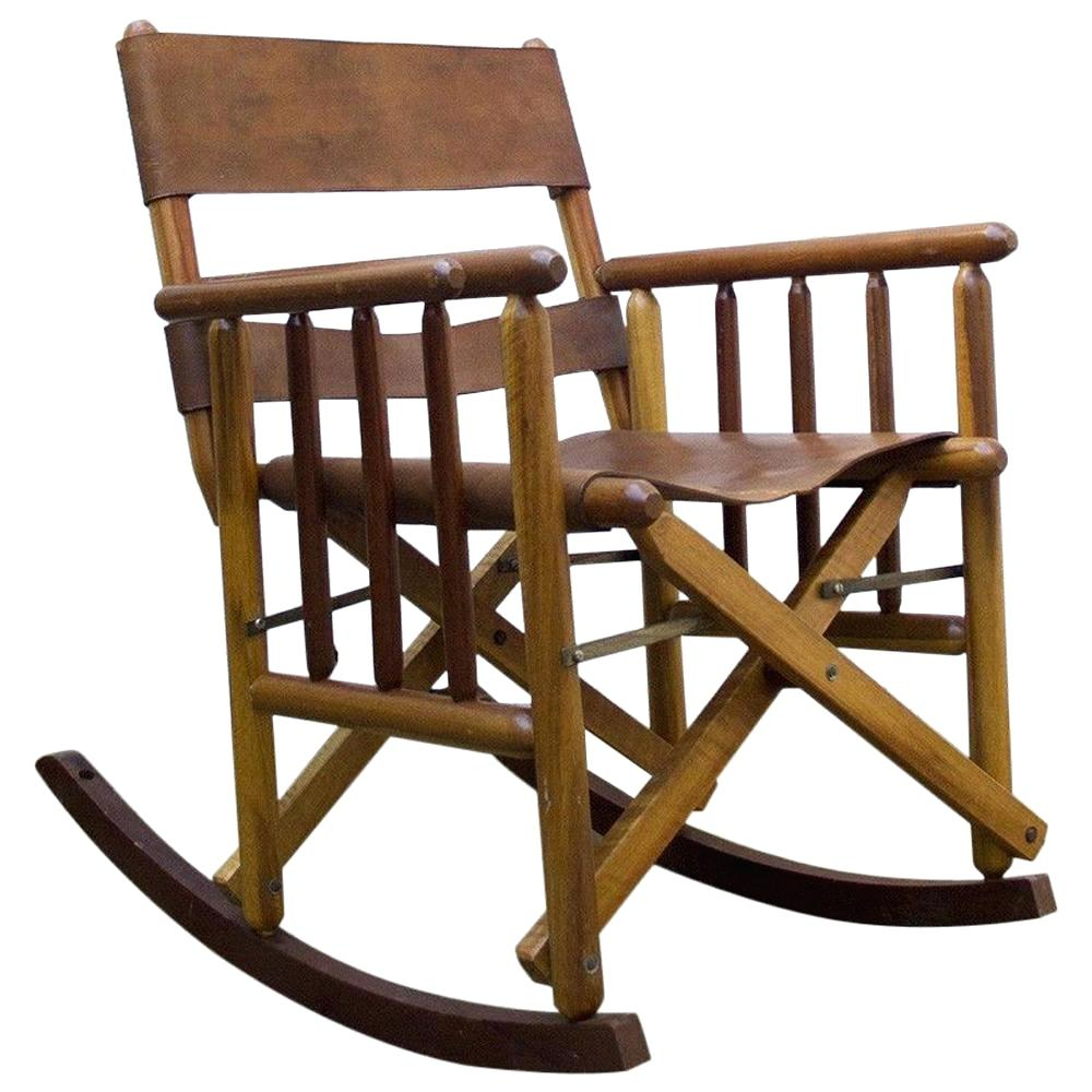 Inspiration about Wooden Rocking Chairs For Faux Leather Upholstered Wooden Rocking Chairs With Looped Arms, Brown And Red (#12 of 20)