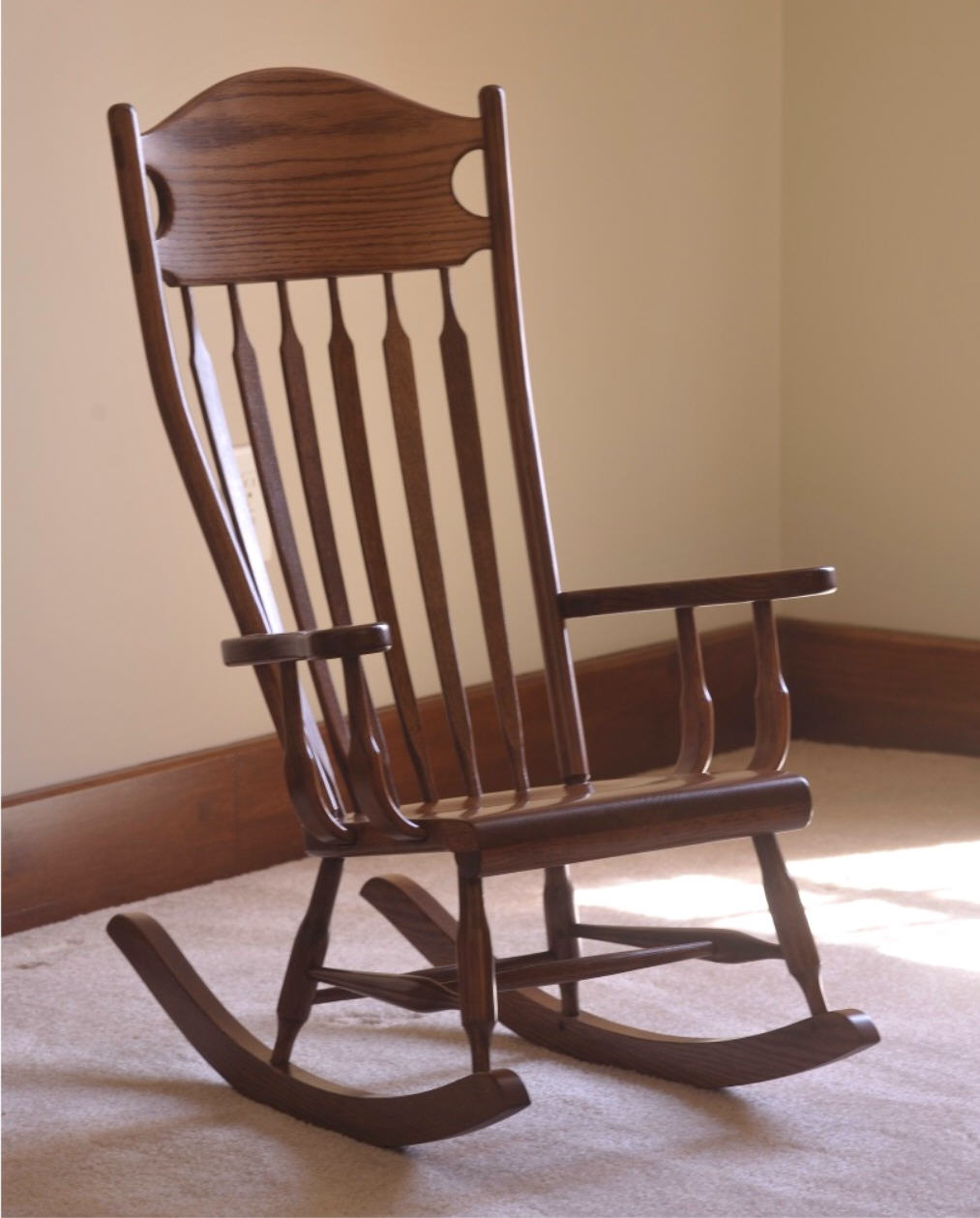 Wr Arrow Back Youth Rocker In Brown Wood Youth Rocking Chairs (#20 of 20)