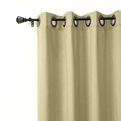 1 Panel Curtains – Unitedforacultureofpeace With Solid Cotton True Blackout Curtain Panels (#1 of 50)