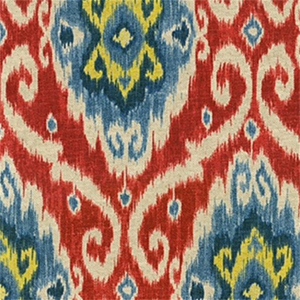 *1 Yd Pc–Ubud Gem Ikat Print Drapery Fabric With Regard To Ikat Blue Printed Cotton Curtain Panels (#2 of 50)