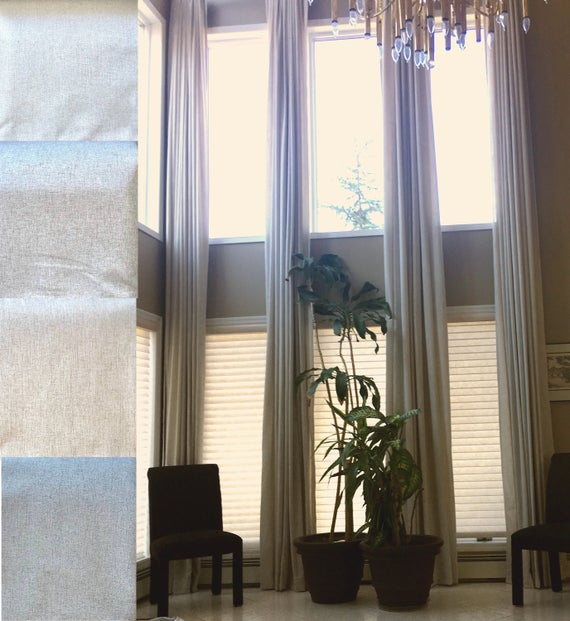 100 % Blackout Extra Long Linen Curtains (View 2 of 50)