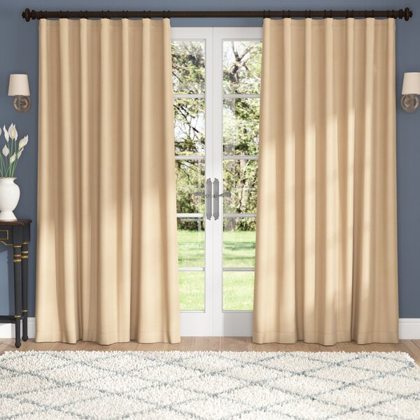 100 Wide Curtains | Wayfair Intended For Signature Extrawide Double Layer Sheer Curtain Panels (#1 of 50)