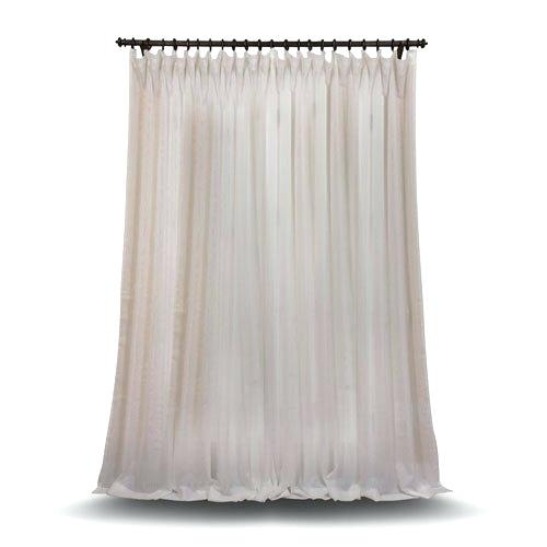 100 X 84 Curtains Panel Rose Street Double Layered Off White In Double Layer Sheer White Single Curtain Panels (View 2 of 50)