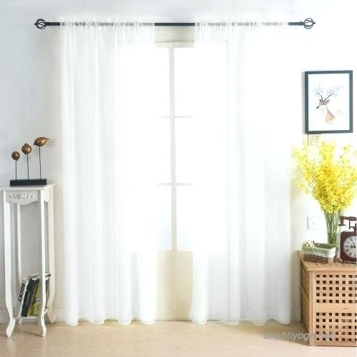 108 Inch Long White Sheer Curtains – Lauschoinfashion Intended For Arm And Hammer Curtains Fresh Odor Neutralizing Single Curtain Panels (View 7 of 50)