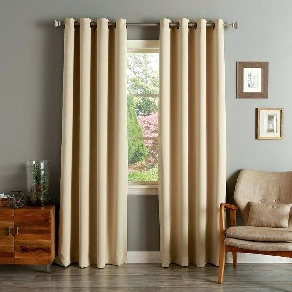 108 Inch Thermal Curtains Aurora Home Solid Grommet Top In Solid Grommet Top Curtain Panel Pairs (View 10 of 35)