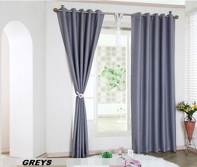 12 Pastel Colours Thermal Insulated Cotton Blackout Curtains In Silvertone Grommet Thermal Insulated Blackout Curtain Panel Pairs (#1 of 35)