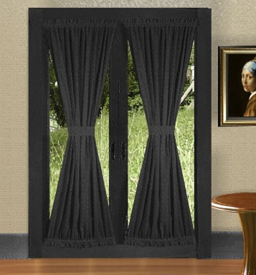 19 Remarkable French Door Blackout Curtains Snapshot Ideas For Inez Patio Door Window Curtain Panels (View 42 of 50)