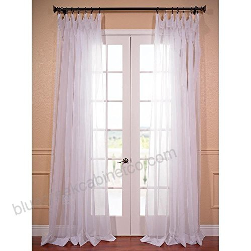 1Pc 96 Girls White Solid Color Extra Wide Voile Sheer Pertaining To Extra Wide White Voile Sheer Curtain Panels (View 1 of 50)