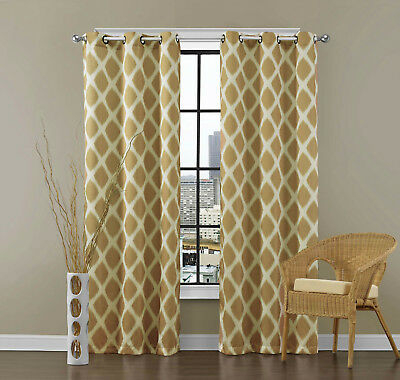 Inspiration about 2 Blackout Window Curtains Panel Pair Grommet Drape Thermal Pertaining To Insulated Blackout Grommet Window Curtain Panel Pairs (#30 of 37)