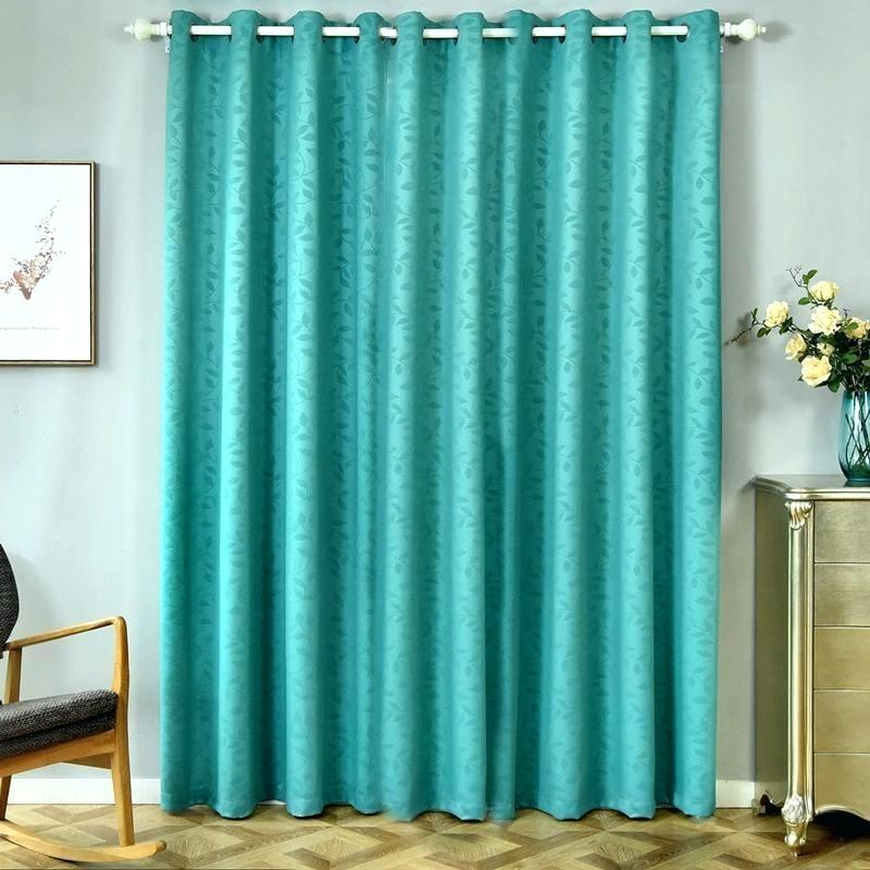 2 Pack Teal Embossed Thermal Blackout Curtains With Chrome In Embossed Thermal Weaved Blackout Grommet Drapery Curtains (View 2 of 42)