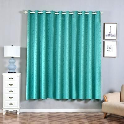 2 Pack Teal Embossed Thermal Blackout Curtains With Chrome With Regard To Embossed Thermal Weaved Blackout Grommet Drapery Curtains (View 3 of 42)
