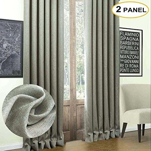 2 Panel Blackout Curtains – Oscequilt For Superior Solid Insulated Thermal Blackout Grommet Curtain Panel Pairs (#2 of 45)