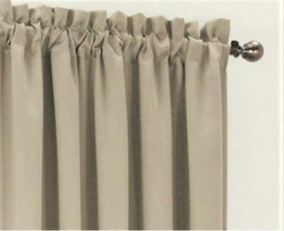 2 Panel Curtain Set Sun Zero 40X63 Grommet Stone Tan Hayden For Hayden Rod Pocket Blackout Panels (#4 of 43)