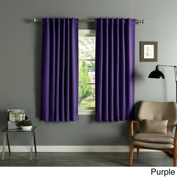 2 Panel Curtains Pertaining To Superior Solid Insulated Thermal Blackout Grommet Curtain Panel Pairs (#3 of 45)