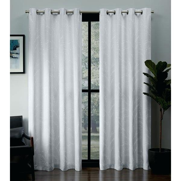 2 Panel Curtains Throughout Superior Leaves Insulated Thermal Blackout Grommet Curtain Panel Pairs (View 2 of 50)