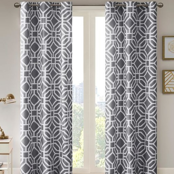 2 Panels Maci Fretwork Room Darkening Window Panel With Regard To Fretwork Print Pattern Single Curtain Panels (View 19 of 46)