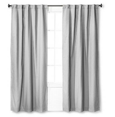 """Inspiration about 2 Pillowfort Twill Light Blocking Lined Curtain Panel 84"""" Gray Pair Nwop 