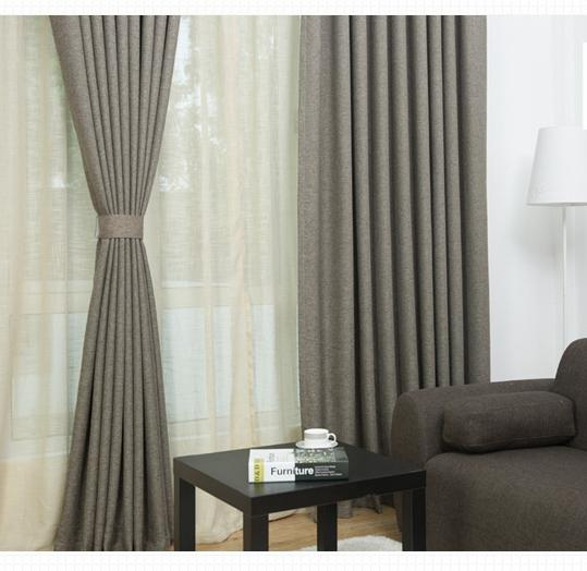 2019 Solid Grey Brown Linen Cotton Curtains Black Out Curtain Panel Ready  Make 1.5M 2 M Window Curtain Set For Home Decoration From Frdtextile,  $ (#3 of 47)