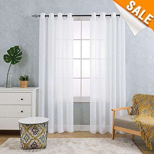 22 Best White Living Room Sets | Catalogue Of Furniture With Wilshire Burnout Grommet Top Curtain Panel Pairs (#2 of 45)