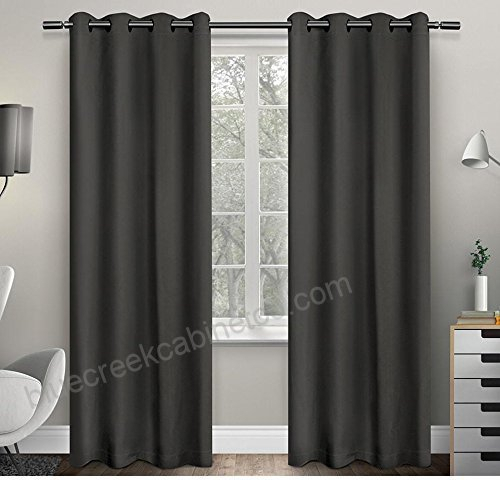 2Pc 63 Girls Charcoal Solid Color Blackout Curtains Panel In Solid Insulated Thermal Blackout Curtain Panel Pairs (View 11 of 50)
