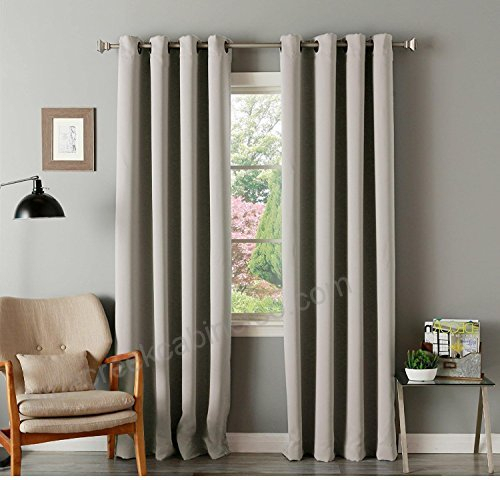 2Pc 72 Girls Clay Solid Color Blackout Curtain Panel Pair Pertaining To Solid Thermal Insulated Blackout Curtain Panel Pairs (View 7 of 50)