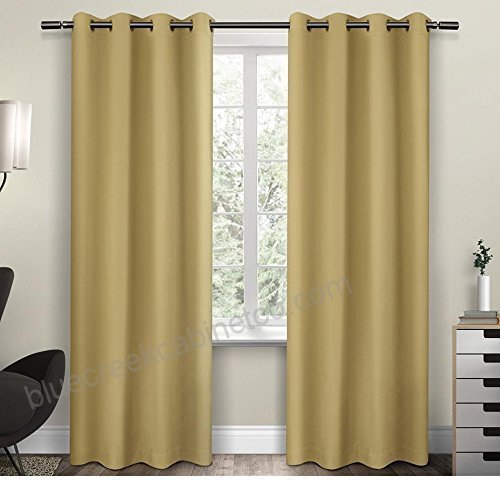 2Pc 96 Girls Sundress Solid Color Blackout Curtains Panel Within Solid Insulated Thermal Blackout Long Length Curtain Panel Pairs (View 38 of 50)