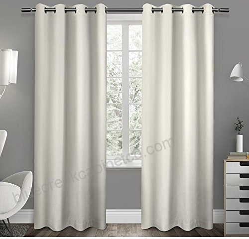 2Pc 96 Girls Vanilla Solid Color Blackout Curtains Panel Within Grommet Top Thermal Insulated Blackout Curtain Panel Pairs (View 5 of 50)