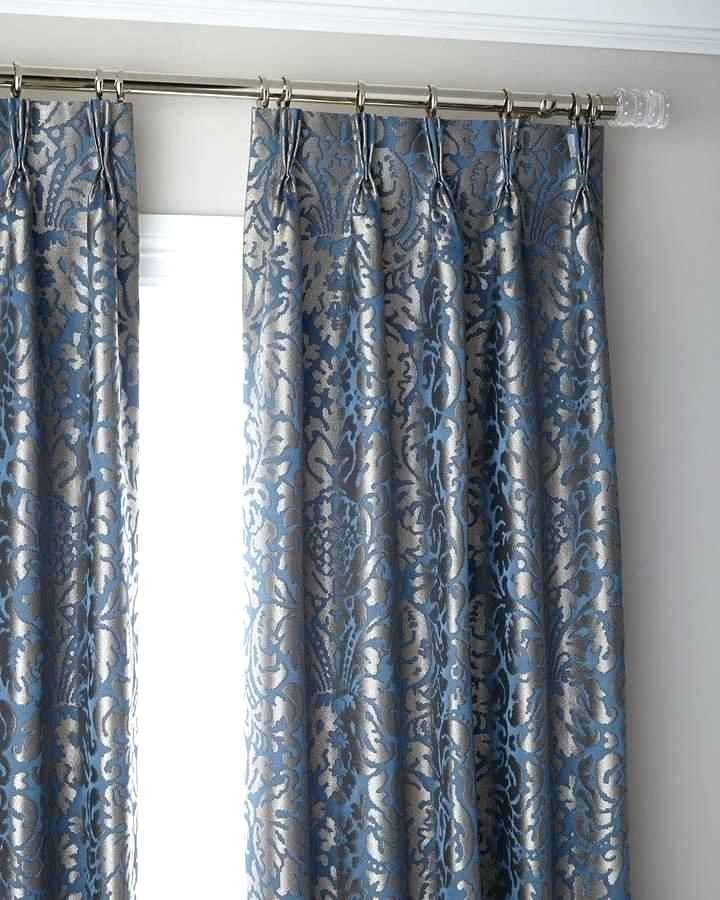 Inspiration about 3 Fold Pinch Pleat Blackout Curtain Panel 120 Curtains Wide In Signature Pinch Pleated Blackout Solid Velvet Curtain Panels (#17 of 50)