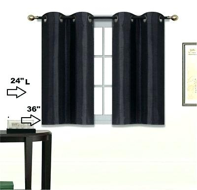 Inspiration about 36 Inch Blackout Curtains – Pizzitalia Inside Ultimate Blackout Short Length Grommet Panels (#26 of 50)