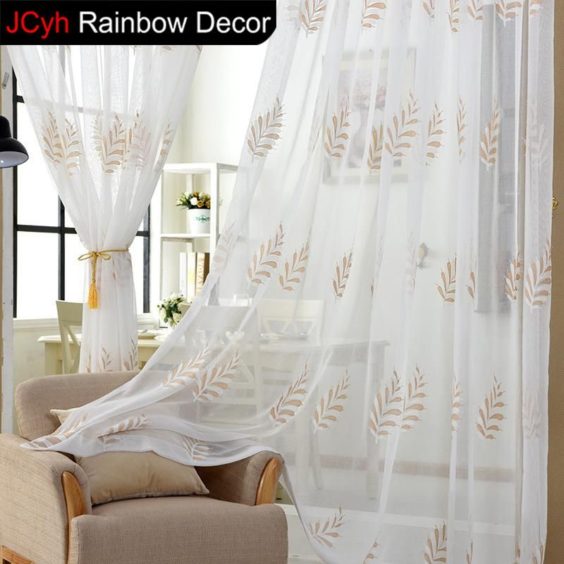 3D Tulle Curtains For Short Window Photo Embroidery Kids Within Kida Embroidered Sheer Curtain Panels (#1 of 50)