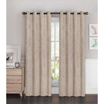 4 – Room Darkening Curtains – Curtains & Drapes – The Home Depot Regarding Julia Striped Room Darkening Window Curtain Panel Pairs (#2 of 37)