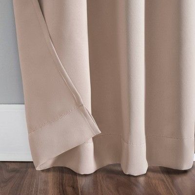 "40""x95"" Kenneth Tab Top Blackout Curtain Panel Blush – Sun Intended For Evelina Faux Dupioni Silk Extreme Blackout Back Tab Curtain Panels (View 1 of 33)"
