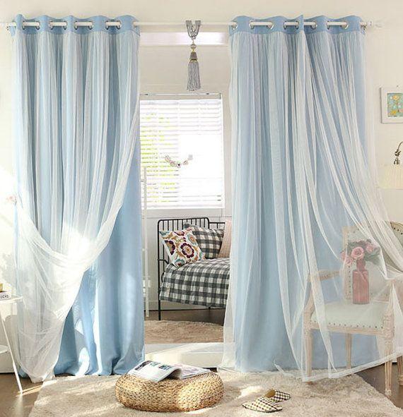 Popular Photo of Elrene Aurora Kids Room Darkening Layered Sheer Curtains